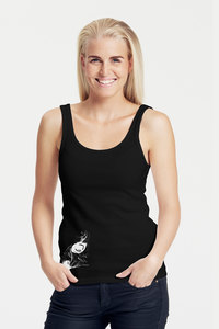 "Bio-Damen-Tank Top ""OwlEye"" - Peaces.bio - Neutral® - handbedruckt"