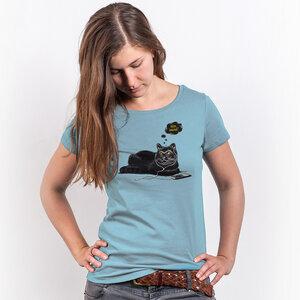 Robert Richter – Chilling Cat - Ladies Organic Cotton T-Shirt - Nikkifaktur