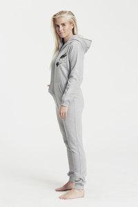 """Bio-Damen-Jumpsuit """"OwlEye"""" - Peaces.bio - Neutral® - handbedruckt"""