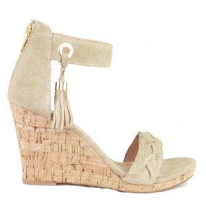Sara Wedges Capuccino - shoemates