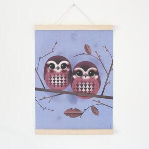 Set / Baby Owls + Posterleiste Ahorn A3 - Kleinwaren / von Laufenberg
