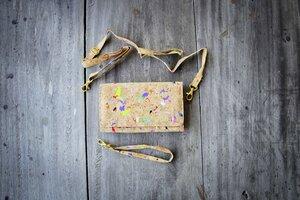 Portemonnaie -Vegan Recycling Kork, Farb-Akzenten, Brieftasche, Clutch - BY COPALA