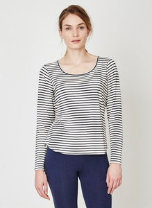 Bamboo Basics Tee Ivory Stripe - Thought | Braintree