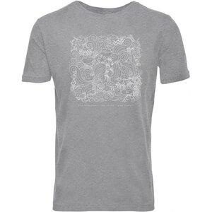 T-Shirt grau-melange mit OceanWaste-Print 100%GOTS - KnowledgeCotton Apparel