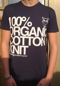 100% Organic Cotton T-Shirt dunkelblau - KnowledgeCotton Apparel