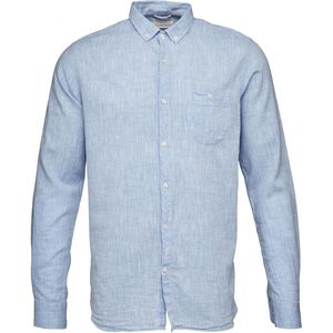 Cotton/Linen Shirt- GOTS - Placid Blue - KnowledgeCotton Apparel
