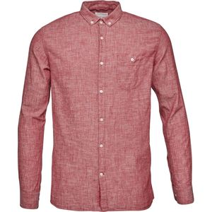 Cotton/Linen Shirt- GOTS - High Risk Red - KnowledgeCotton Apparel