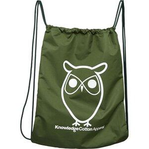 Gym Bag - Turnbeutel - in grün - aus 100%-Recycling PET - KnowledgeCotton Apparel