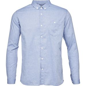 Poplin Shirt - All Over Dot Print- Limoges - GOTS - KnowledgeCotton Apparel