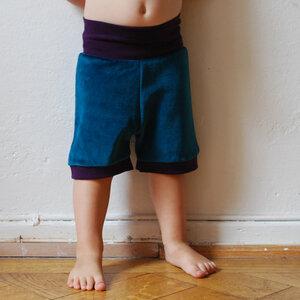 Kurze Nickihose für Kinder & Babys - petrol/lila - Cmig