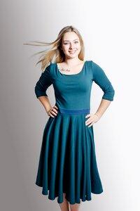 Kleid 'Vrida' smaragd / blau GOTS zertifiziert - Frija Omina