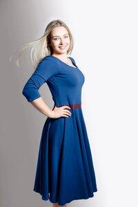 Kleid 'Vrida' blau / aubergine , GOTS zertifiziert - Frija Omina