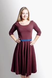 Kleid 'Vrida' aubergine / blau, GOTS zertifiziert - Frija Omina