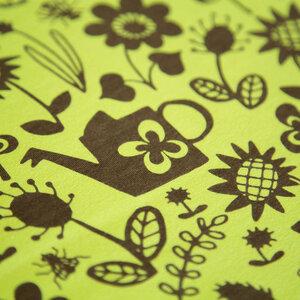 Baumwoll-Jersey Gartenarbeit wiesengrün - Käpynen