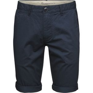 Twisted Twill Shorts - Total Eclipse - dunkelblau GOTS - KnowledgeCotton Apparel