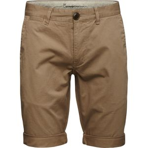 Twisted Twill Shorts - beige - GOTS - KnowledgeCotton Apparel