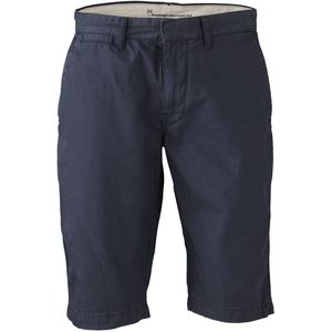 Twisted Twill Shorts - Total Eclipse - blau VEGAN & GOTS - KnowledgeCotton Apparel