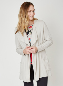 Elisse Long Cardi - Stone - Thought | Braintree