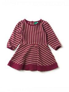 Mädchen Kleid LA  beere geringelt ökologisch - Little Green Radicals
