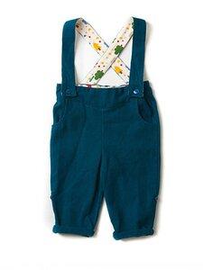 Baby Cordhose mit Träger blau schadstoffgeprüft - Little Green Radicals