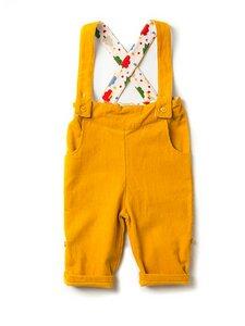 Baby Cordhose mit Träger gelb schadstoffgeprüft - Little Green Radicals