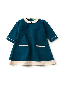 Mädchen Cordkleid LA blau Fairtrade - Little Green Radicals