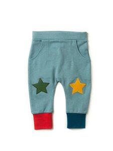 Baby u. Kinder Jogger Hose hellblau nachhaltig - Little Green Radicals