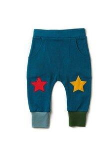 Baby u. Kinder Jogger Hose blau nachhaltig - Little Green Radicals