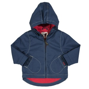 Baby u. Kinder Jacke mit Kapuze blau schadstoffgeprüft - Kite