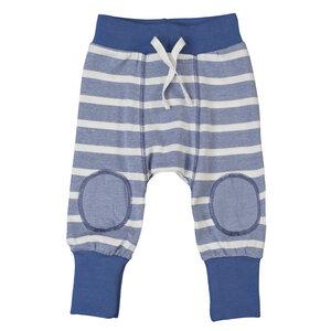 Babyhose aus Bio-Baumwolle blau geringelt - People Wear Organic