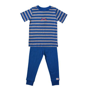Pyjama - blau geringelt - People Wear Organic
