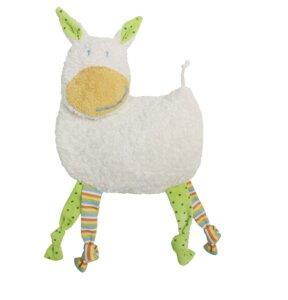 Dinkelkorn-Wärmekissen Esel bunt mit Rassel im Kopf - Efie