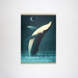 Set / Humpback Whale + Posterleiste Eiche 50 cm - Kleinwaren / von Laufenberg