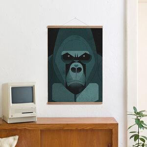 Set / Gorilla Love + Posterleiste Eiche 50cm - Kleinwaren / von Laufenberg