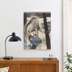 Set / Mountain Lion + Posterleiste Eiche 50 cm - Kleinwaren / von Laufenberg