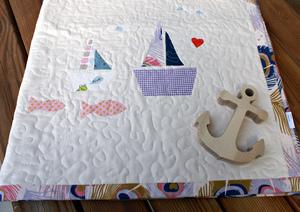 """Quilt Decke """"Schiffchen"""" - luscinia"""