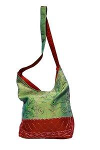 Umhängetasche, mit Stickerei zwei Farben 789-08 - Karma Fair Trade