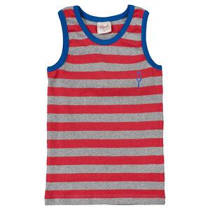 Unterhemd - rot geringelt - People Wear Organic
