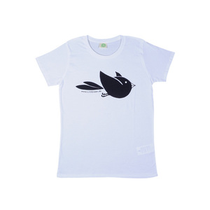 T-Shirt weiß - VOGEL - girl  - nicegreenstuff