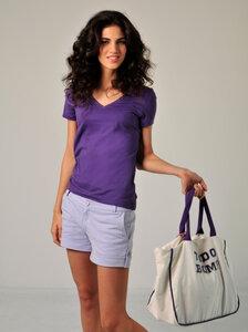 T-Shirt CRISTINA violett - Tudo Bom ?