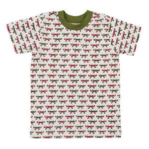T-shirt - weiß mit Kanu Print - People Wear Organic
