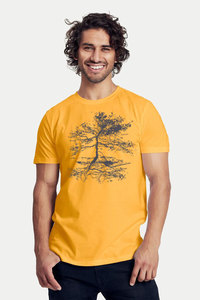 "Bio-Herren-T-Shirt ""Rooted"" - Peaces.bio - Neutral® - handbedruckt"