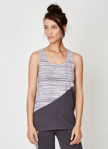 Lazarus Vest Top - Textured Stripe - Thought | Braintree