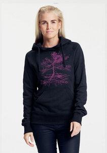 "Bio-Damen-Kapuzensweater ""Rooted"" - Peaces.bio - Neutral® - handbedruckt"