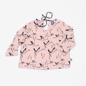 Flamingo Leinenblüschen - Pünktchen Komma Strich