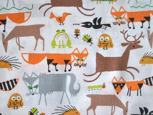 Bio Baumwollstoff - Forest Friends / Waldfreunde - Cloud 9 Fabrics