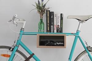 Fahrrad Wandhalterung 'GUSTAV' aus nachhaltigem Holz - Bicycledudes