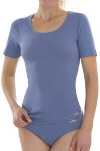 Fairtrade Shirt kurzarm, jeansblau - comazo|earth