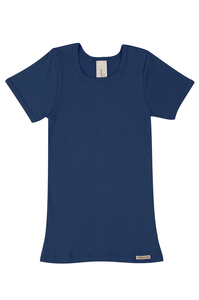 Fairtrade Shirt kurzarm, marine - comazo|earth