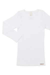 Fairtrade Shirt langarm, weiss - comazo|earth